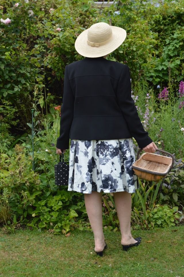Off to a garden party with my trug.