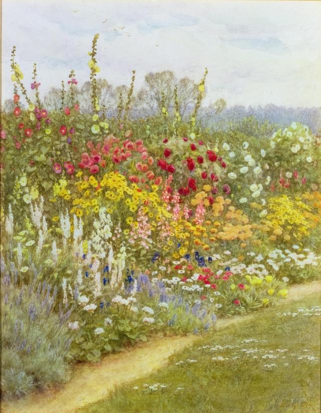 Herbaceous Border. (Munstead Wood) Helen Allingham