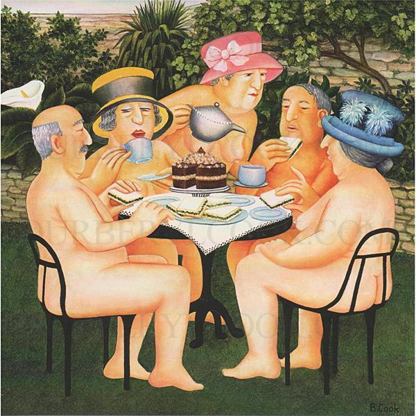 Tea in the Garden Beryl Cook