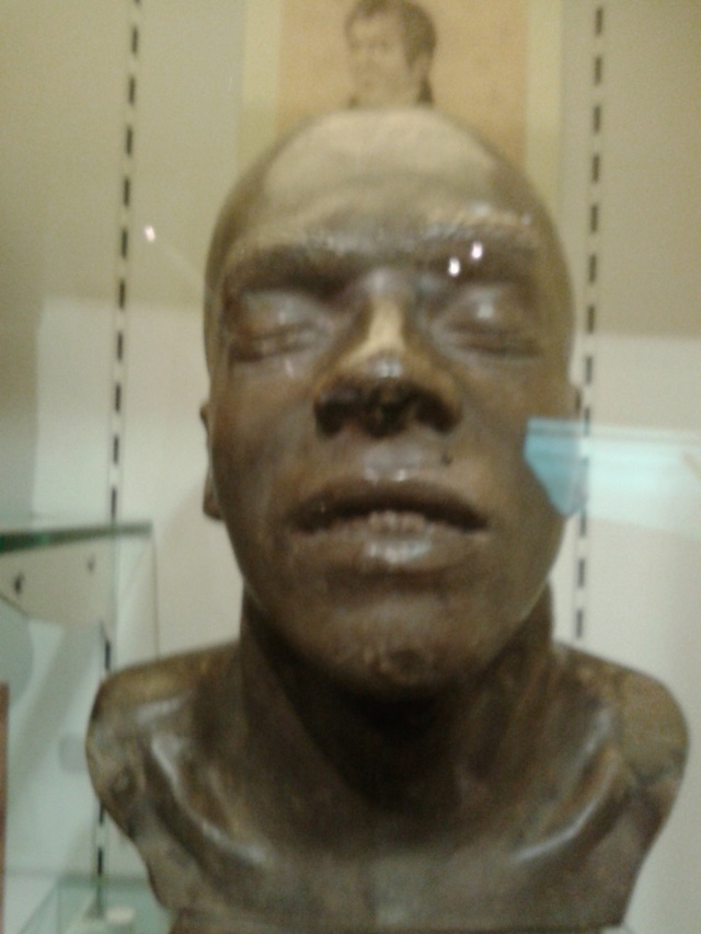 Cast of Corder's head. made by Childs