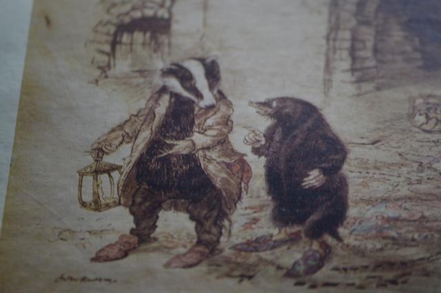 Mole and Badger. Arthur Rackham