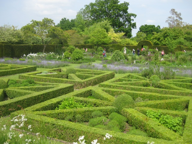 Knot Garden. Helmingham Hall. Suffolk.